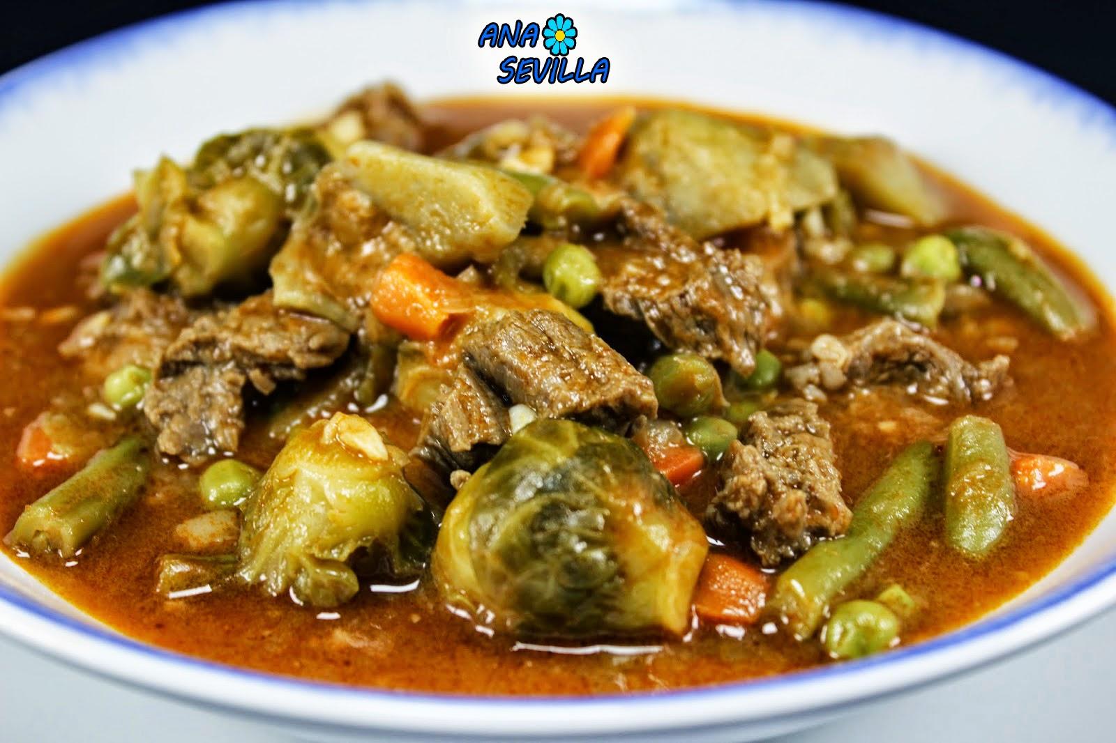 Menestra con carne Ana Sevilla cocina tradicional