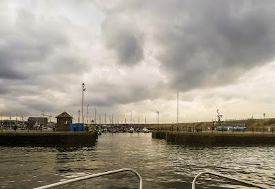 Photo of the entrance to Maryport Marina