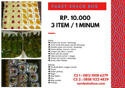 harga nasi box sarimande Ciputat kota Tangerang Selatan