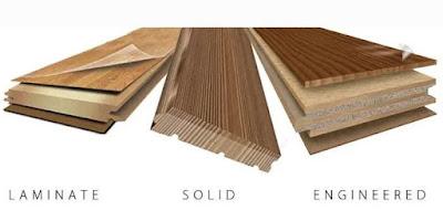 Perbedaan lantai kayu solid, laminated dan vinyl