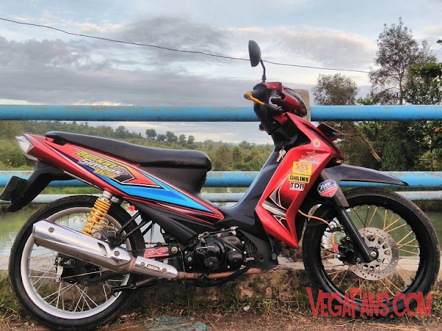 Vega RR Merah Modif Road Race