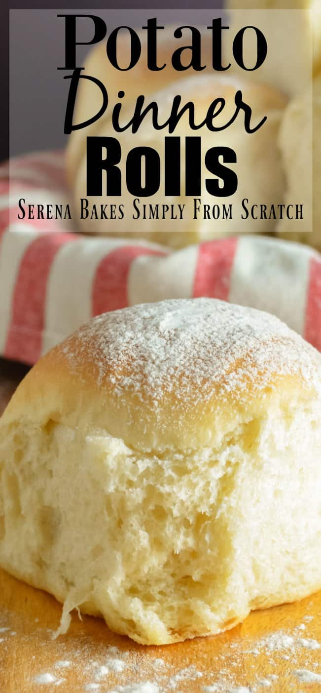 Soft, fluffy Potato Dinner Rolls recipe are the perfect addition to the dinner table and the holidays from Serena Bakes Simply From Scratch.