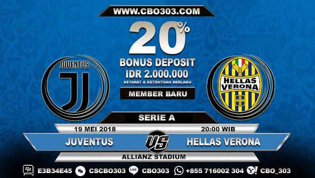 Prediksi Bola Juventus VS Hellas Verona 19 Mei 2018
