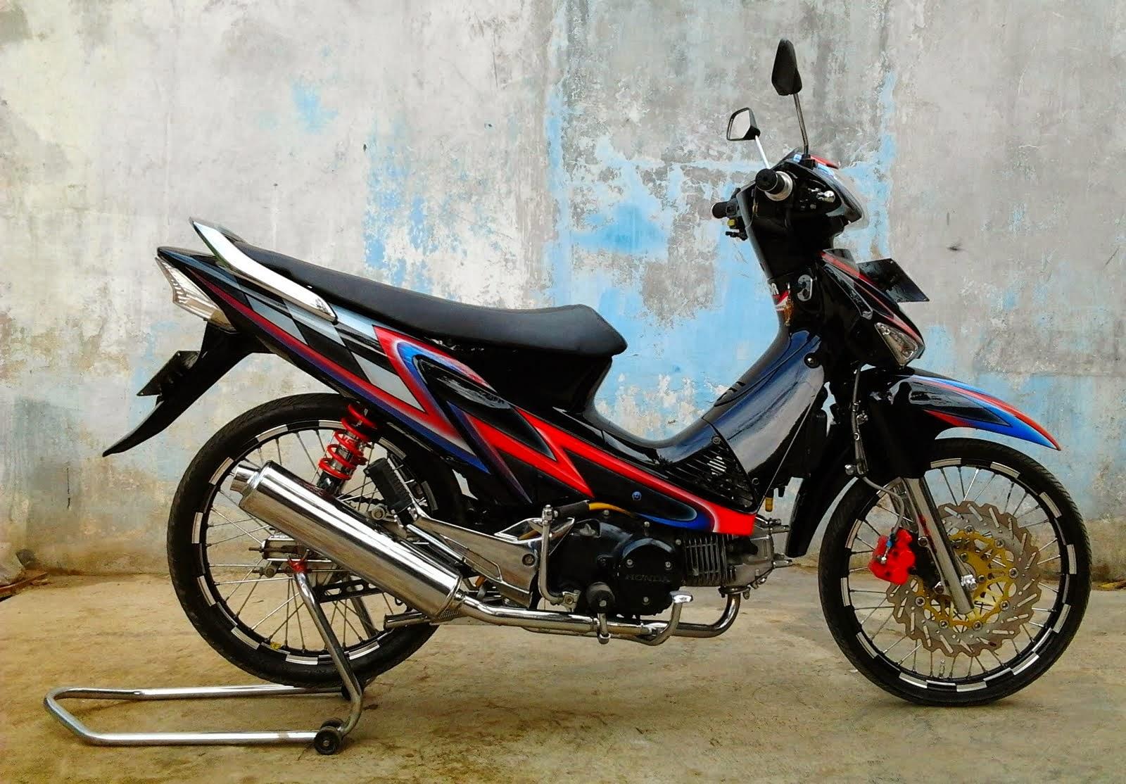 Kumpulan Modifikasi Motor Supra X 125 Bandung Terbaru Modifikasi