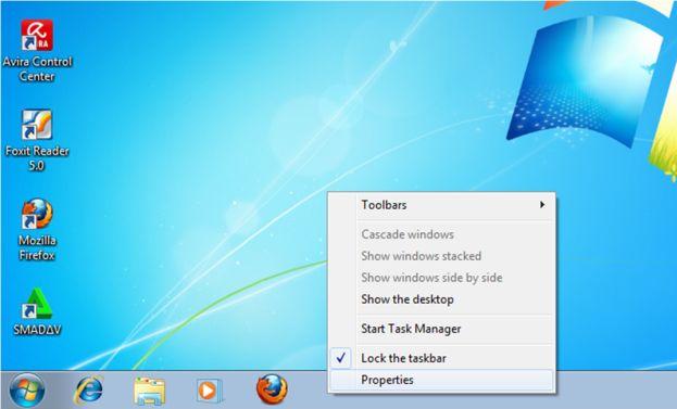 Menambahkan Baris Taskbar di Windows