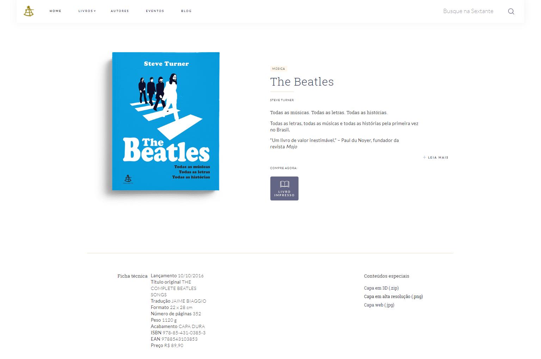 Editora Sextante - Livro The Beatles