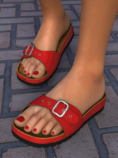 Summer Sandals Volume 1 for Genesis 2 - Genesis 3 Female