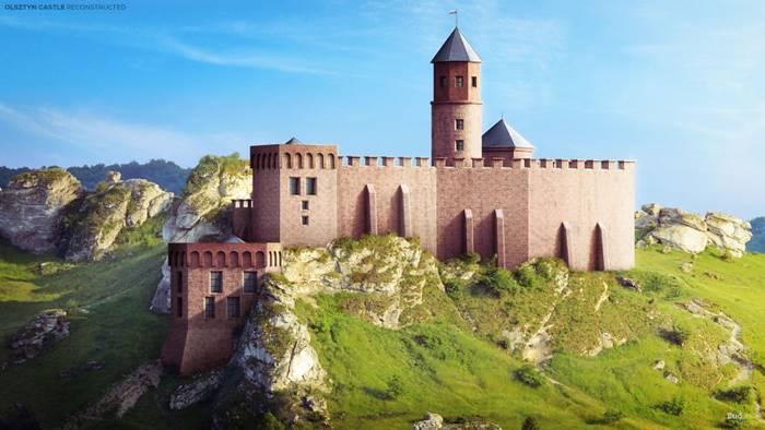 Olsztyn Castle (Olsztyn, Poland).