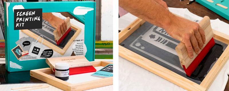 Serigrafía DIY con pantallas reutilizables