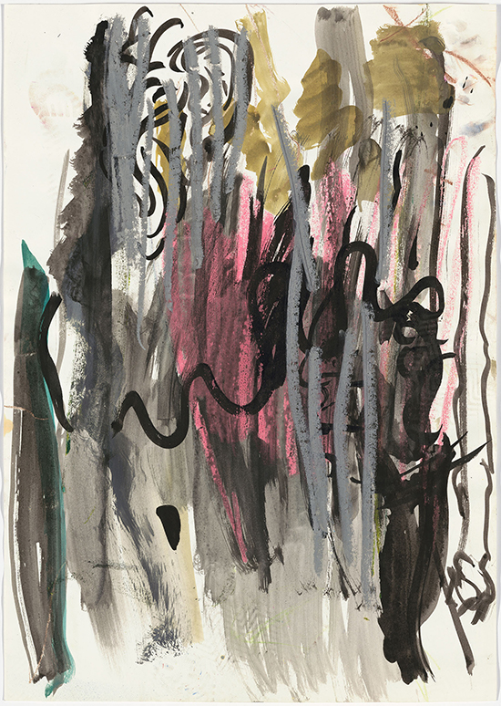 Per Kirkeby Untitled, ca. 1985-1988 Pastel, ink, watercolor on paper 59 x 42 cm
