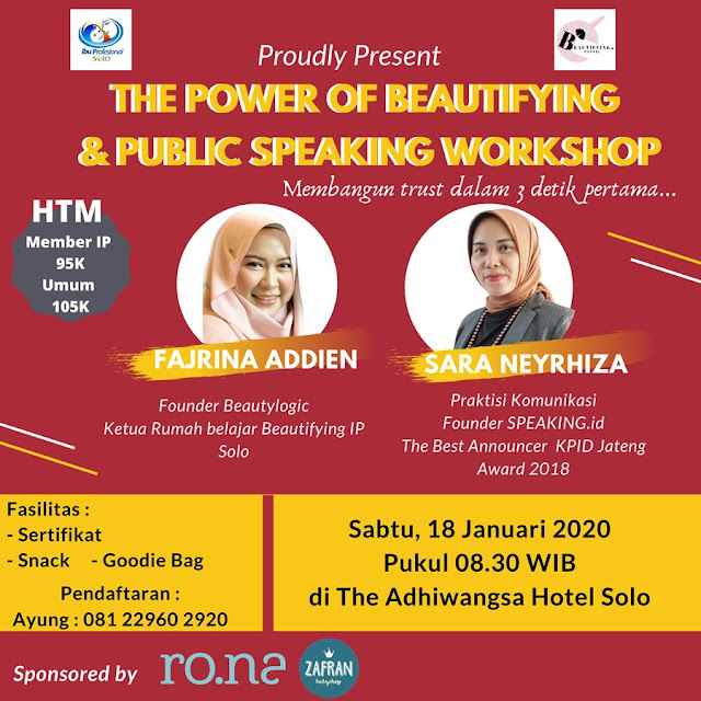 WORKSHOP PUBLIC SPEAKING
