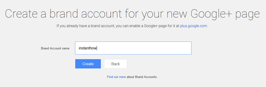 create google plus brand page