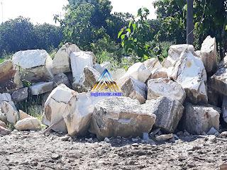 Bahan balok untuk membuat Batu alam tempel dinding rumah, dinding pagar / tembok, dinding tembok taman paras jogja batu putih