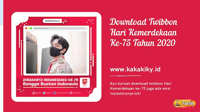 Download twibbon hut ri ke 75