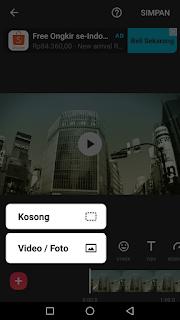 Cara edit video menambah atau menyambung video menggunakan aplikasi Inshot di Android
