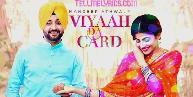 Viyaah Da Card Madeep ATHWAL lyrics 2020