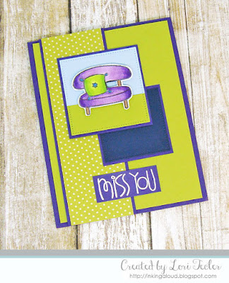Miss You card-designed by Lori Tecler/Inking Aloud-stamps from Paper Smooches