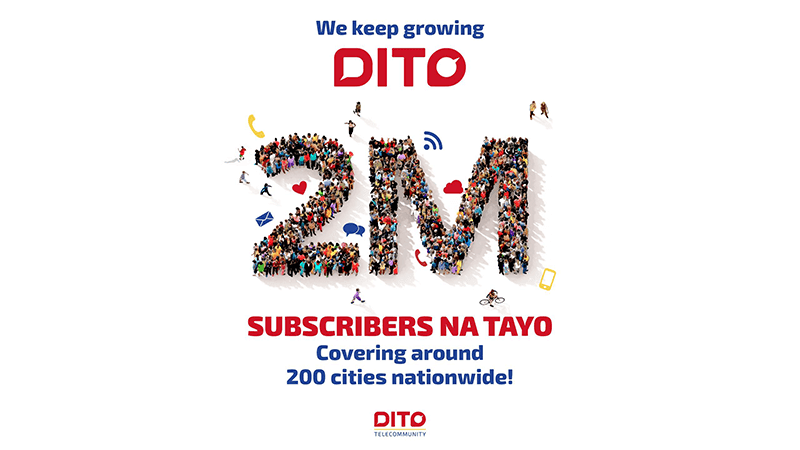 DITO now has 2 million subscribers nationwide, now available in 200 cities