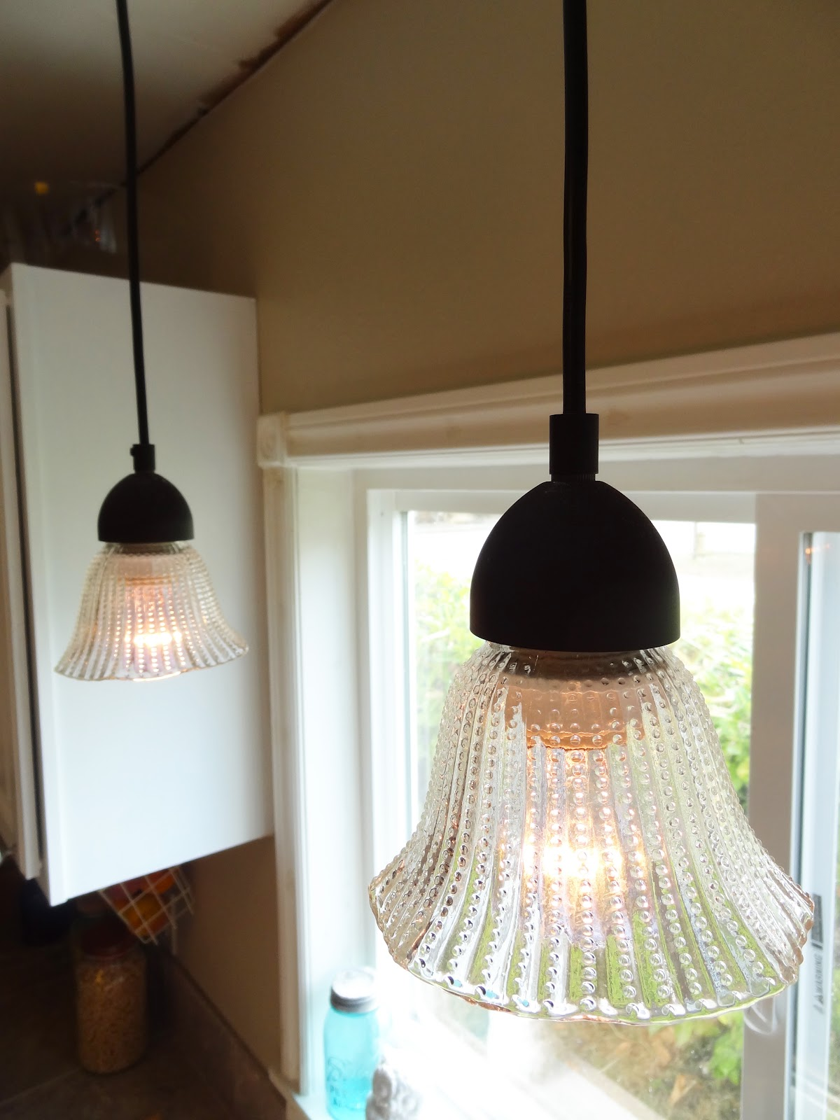 Cheap Glass Pendant Lights Diy Update Your Kitchen Lighting On The Cheap Revamp