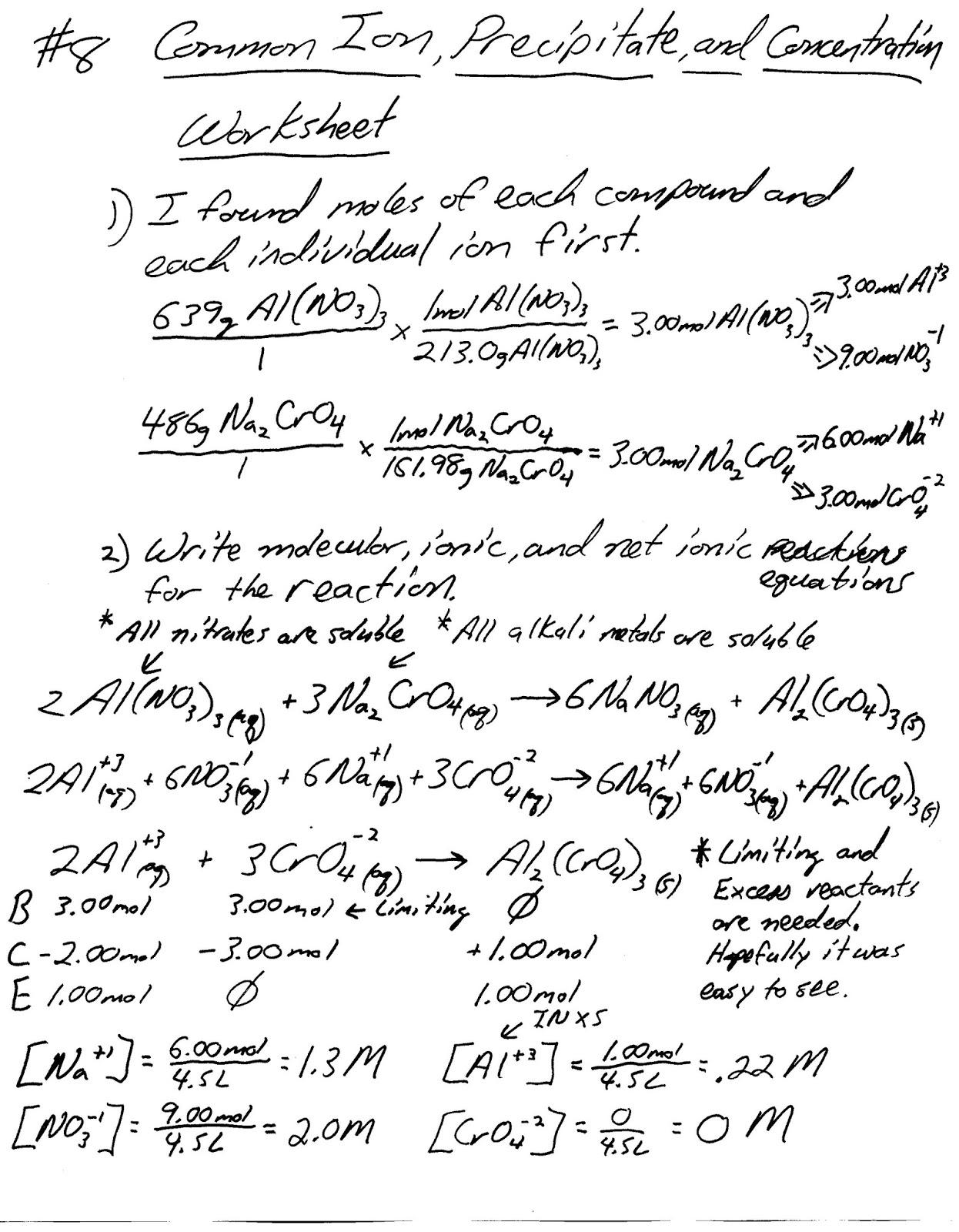 Mr Brueckner S Ap Chemistry Blog 17 Common Ion