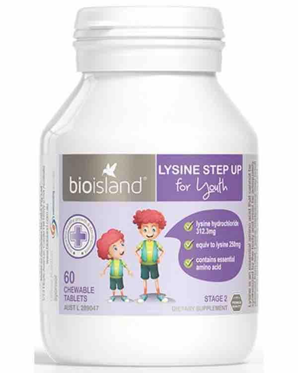 Bio Island Lysine Step Up for Youth - Cho Trẻ Từ 6 Tuổi Trở Lên