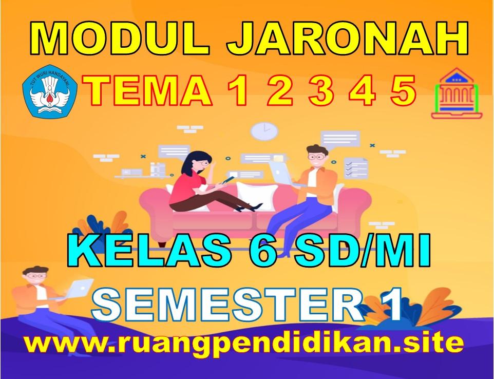 Modul BDR/PJJ/Online Kelas 6 SD/MI