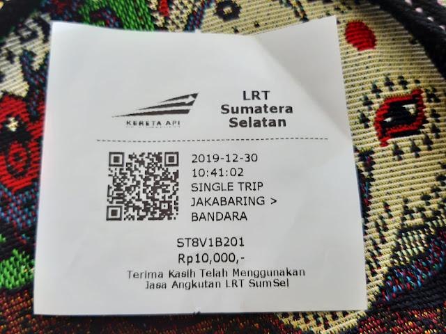 Tiket LRT Palembang