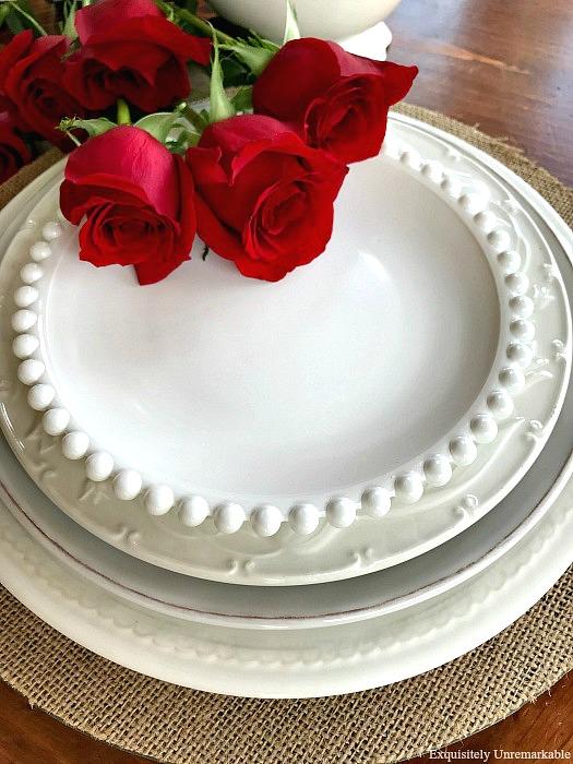Layering White Plates