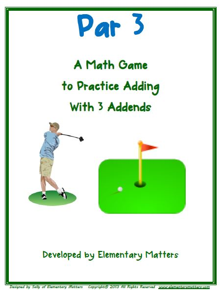FREE Par 3 - Adding 3 Addends
