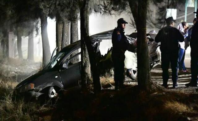 Niño de 12 años que conducía auto a 150 km/h vio los cuerpos mutilados y salió corriendo