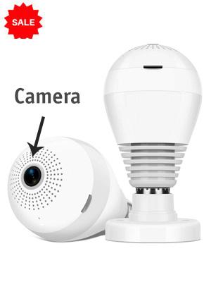 LED Bulb with Hidden Camera