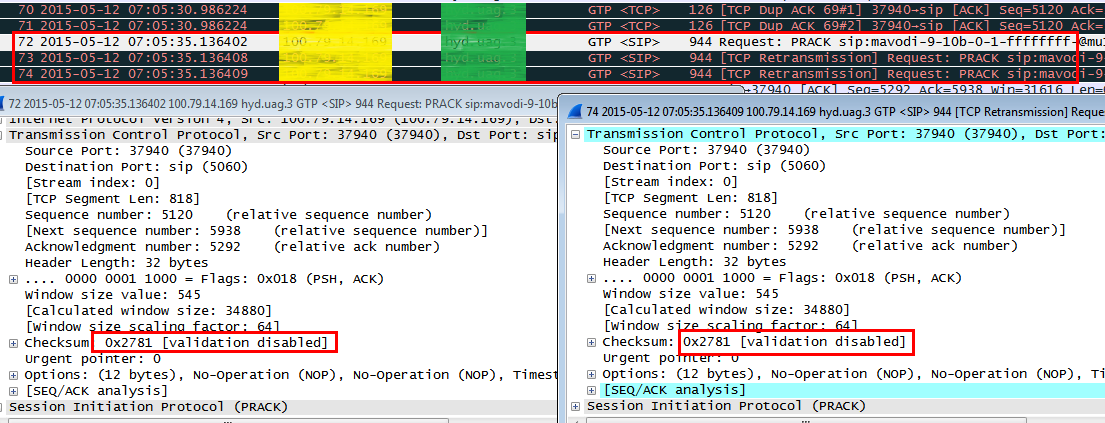Red Mouse: VoLTE: Using TCP parameters in packet analysis