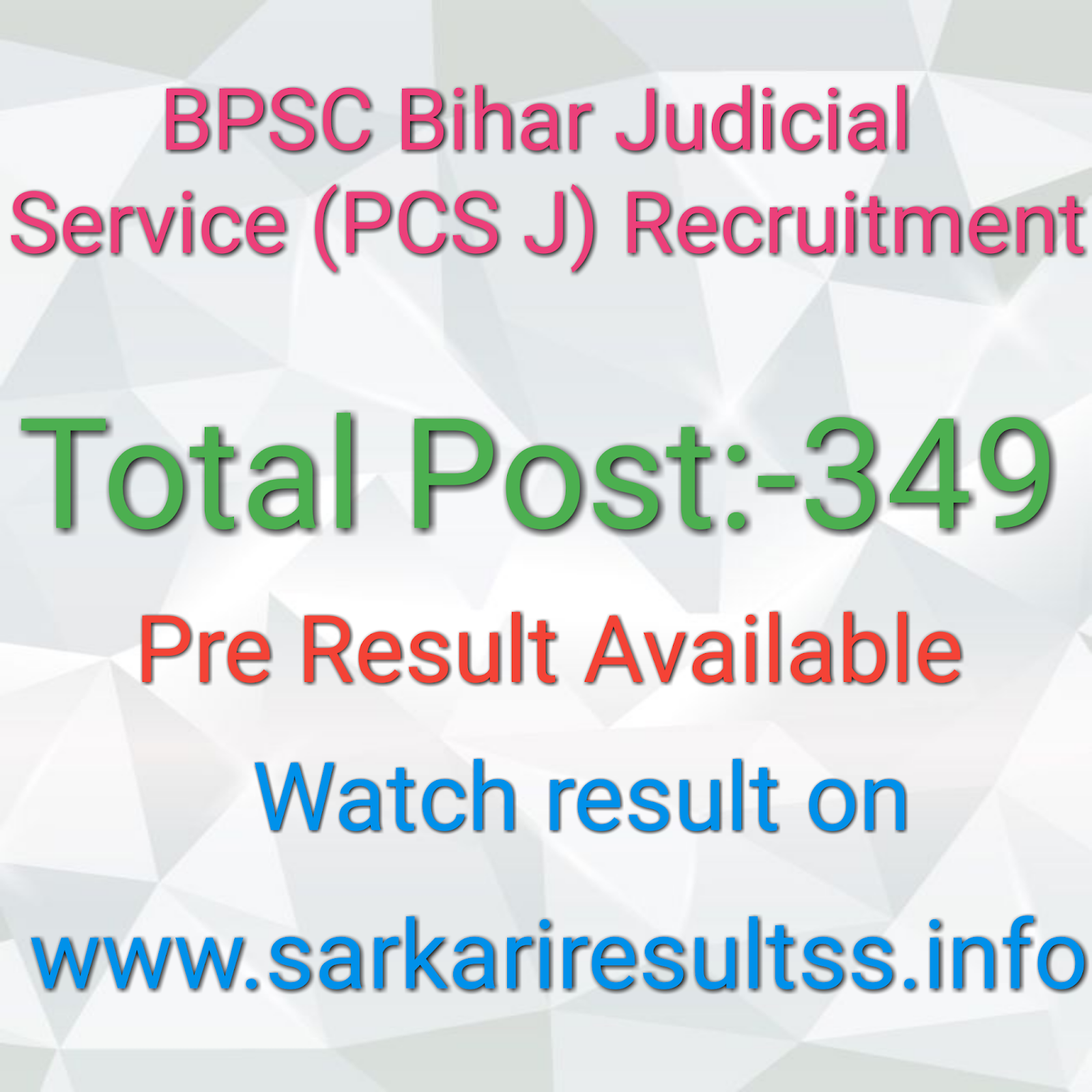 BPSC) Bihar Judicial Service (PCS J) Recruitment Latest job