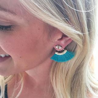 Stella & Dot Lotus Tassel Earrings