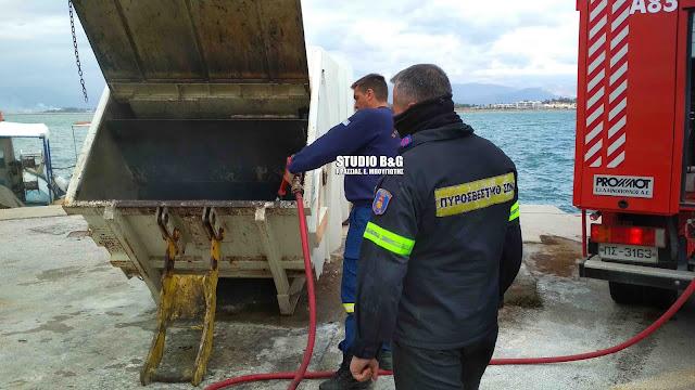 Ασυνείδητος πέταξε στάχτη από τζάκι σε κάδο απορριμμάτων στο Ναύπλιο