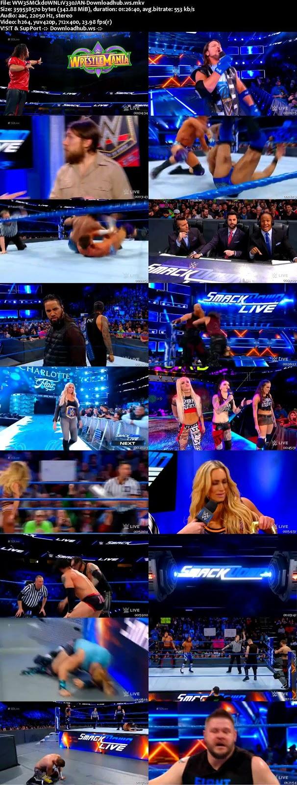 WWE Smackdown Live 30 January 2018 480p HDTV