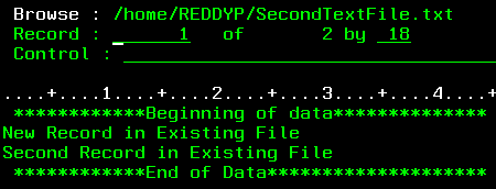 Write data into IFS file from SQL on IBM i