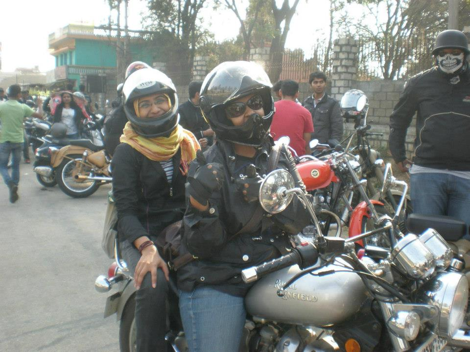 indian girl riding the bullet
