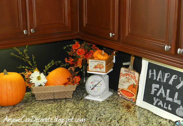 fall kitchen decorating ideas anyone can decorate happy fall y all kitchen pumpkin decor 17510