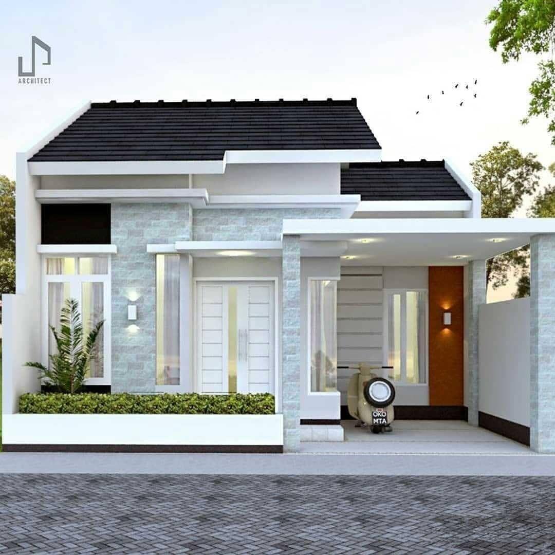 Kumpulan Desain Rumah Minimalis Type 70 Dengan Dinding Eksterior Batu Alam Dan Cara Pasang Batu Alam Yang Benar Homeshabby Com Design Home Plans Home Decorating And Interior Design