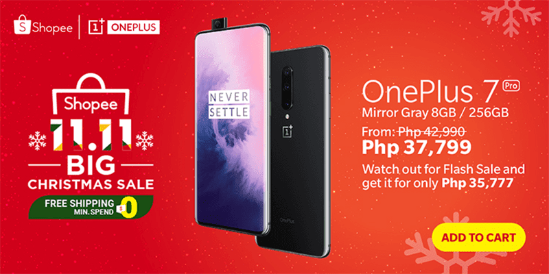 OnePlus 7 Pro, 7T Pro could be as low as PHP 35,777 at Shopee 11.11