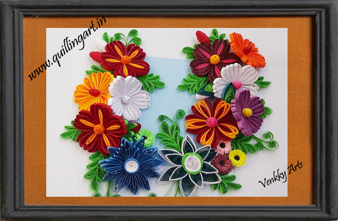 How to make beautiful new design quilling flowers wall decoration how to make beautiful new design quilling flowers wall decoration mightylinksfo