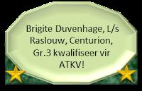 Brigite Duvenhage, L/s Raslouw, Centurion, Gr.3 kwalifiseer vir ATKV met die aanbieding van haar redenaarstoespraak onder die 2013 tema SPEELGOED