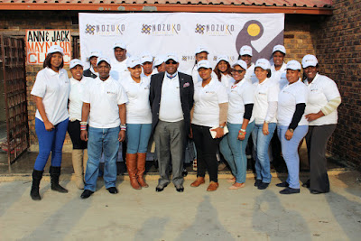 Some of the Nozuko Nxusani Staff at Tumelo Home on Mandela Day 2016