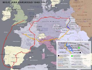 Mapa misji Jana Karskiego
