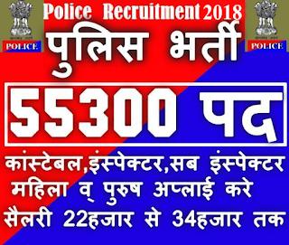 41520 पद पर उत्तर प्रदेश पुलिस भर्ती, UP Police Recruitment 2018