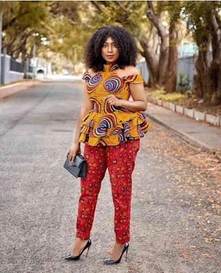 Classy Ankara trousers and peplum top