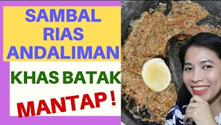resep sambal rias batak
