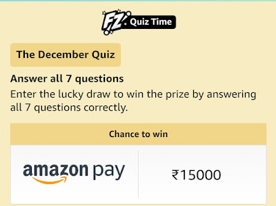 Amazon December Quiz Answers Daily