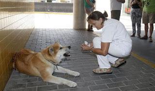 Maya con una enfermera